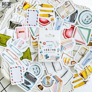 Etiqueta 45pcs Estudo Kawaii Coleção artigo decorativa Washi Adesivos Scrapbooking vara Diário Stationery Album Adesivos Tz192 bbycbO