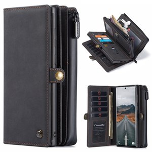 CaseMe Retro Leather Samsung Galaxy S20 10 Plus Note 20 Ultra Magnetic Wallet Phone Case For A51 A71