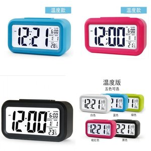 Student Children LED Digital Clocks Intelligence Glow Electronic Alarm Clock With Temperature Date Multicolor High Quality 10 81cy J2