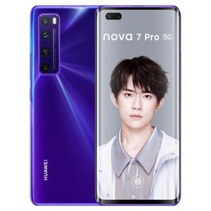 """Оригинальный Huawei Nova 7 Pro 5G мобильный телефон 8 ГБ RAM 128GB ROM 256GB ROM KIRIN 985 OCTA CORE 6,57 """"OLED 64MP AI ID FICE ID отпечатков пальцев Сотовый телефон"""