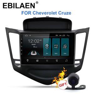Ebilaen Car DVD Multimedia Player para Cheverolet Cruze 2009-2021 2din Android 9.0 Radio Auto Navegação GPS Câmera traseira