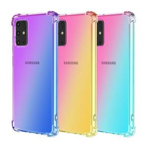 Étui de téléphone TPU transparent de gradient transparent pour Samsung Galaxy S20 Fe Ultra S10 Plus S10E A31 M31S M01S M51 Airbag Couvercle antichoc