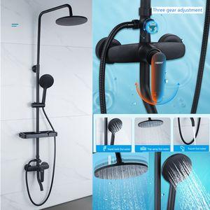 Lusso vendita calda rubinetto doccia in ottone di alta qualità materiale moderno bagno doccia rubinetto vasca da bagno rubinetto rubinetto pioggia doccia