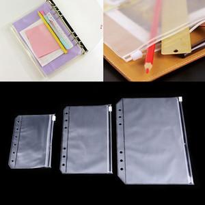 A5 A6 A7 PVC 6 Hole Binder Loose-Leaf Notebook Waterproof Zipper Bag Business Card Bags Kids Learning Storage Bag School Office