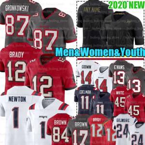 12 Tom Brady Jerseys 1 Cam Newton 17 84 Antonio Brown 87 Rob Gronkowski New TampaBaíaBuccaneer InglaterraPatriot Julian Edelman