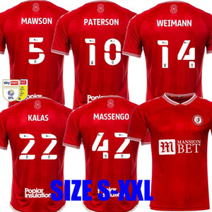 20 21 Bristol Weimann City Soccer Jerseys Hogar 2020 2021 Mawson Martin Diedhiou Paterson Wells Massengo Kalas Kalas Dasilva Camisetas de fútbol