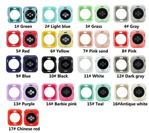 Coloré étui souple en silicone pour Apple montre iWatch Série 1 2 3 4 5 6 Cover Protection 42mm 38mm 40mm 44mm