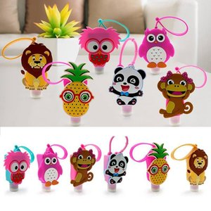 30ML Cute Creative Cartoon Animal Shaped Bath Silicone Portable Hand Soap Hand Sanitizer Holder With Empty Bottle HHC1281
