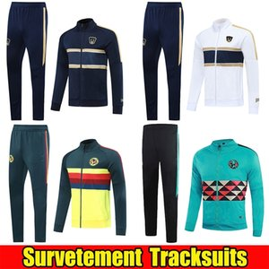 Survetement 2020 2021 Club America Mens Football Jacket Kit Training Suit 20 21 UNAM Soccer Tracksuit Mexico Club Chandal Jogging Pants