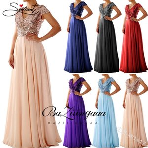 OLLYMURS Autumn and Winter New European and American Solid Color Evening Dress Long dress Chiffon Dress Evening Gown 201113