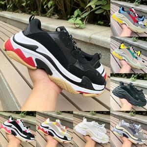 triples hombres blancos negros zapatos de las mujeres ocasionales papá 2020 pares triples s color amarillo y beige verde para hombre grises rosadas estilista zapatillas de deporte de Estados Unidos 5,5-11