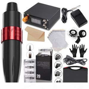 EPACK Dragonhawk ARASHI Rotary Tattoo Kit Hybrid Tattoo Pen Machine Mini Power Supply Disposable Needles Tattoo Supply
