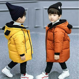 Boys Winter Clothing Cotton-Padded Clothes Long New Style Autumn and Winter of Kids Overcoat down Padded Jacket Cotton Padded Coat