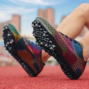 Baskets de course pour femmes pour femmes Sprinting athlétique Sprinting Sprinting Chaussures de course avec Spikes Garçons Filles
