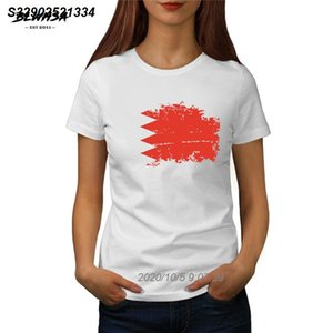 shirt da bandeira de Bahrain T Mulheres Moda manga curta Verão T-shirt Printing Barém Bandeira Nacional Mulheres Tops Roupa 415510