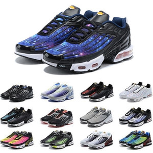 Blue Star Tn Plus 3 III Running Shoes tn 3 Chaussures Triple White Black Hyper Green OG USA Neon Mens Trainers Sports Sneakers