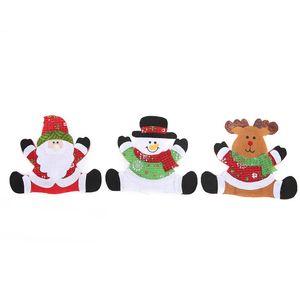 Noel Çatal Çanta Santa Kardan Adam Moose Noel Yılbaşı Pocket Çatal Bıçak Çatal Tutucu Çanta Masa Akşam Dekorasyon GGE1707 Dokumasız