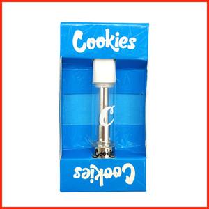 New Cookies Carts Vape Cartridge Empty Disposable pen Ceramic 0.8ml Atomizer Runtz Smart OEM brand custom OEM Packaging Clear Glass Tank