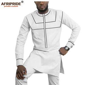 Afrikanische Kleidung für Männer Dashiki Herren Outfits Hemden + Ankara-Hosen Set Trainingsanzug Männer Tribal Attire AFRIPRIDE A1916055 201118