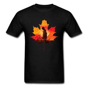% 100 Pamuklu Kumaş Man Tees Siyah Giyim Yaz / Sonbahar Tops A Little Prayer T Shirt Moda Tişört Yaprak Tişört tutun
