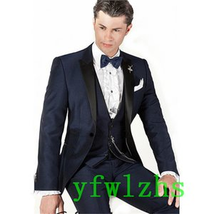 Classic tuxedos groom wedding Peak Lapel men suits mens wedding suits tuxedo costumes de pour hommes men(Jacket+Pants+Tie+Vest) W305