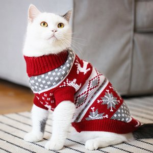 Christmas Cat Sweater Pullover Winter Dog Clothes for Small Dogs Chihuahua Yorkies Puppy Jacket Pet Clothing Ubranka Dla Psa