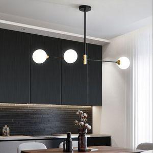 Nordic Dinning Room Chandelier Lighting Modern Glass Ball Chandelier Lamp For Kitchen Dinning Room Vintage Haing Light Fixture