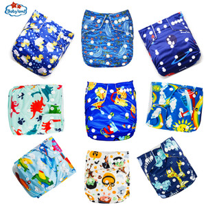 41% Discount BABYLAND 9pcs Lot Waterproof Eco-Friendly Cloth Diapers Washable Nappy Reusable Baby Pocket Diapers Day and Night 201020