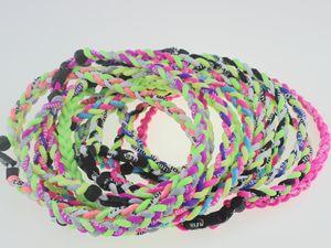 Original men kids boys titanium braided 3 ropes tornado necklaces for SPORTS football baseball softball girls mom FAST DHL