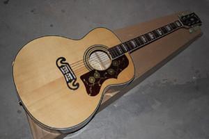 무료 배송 2014 도매 SJ200 피트 타운센드 서명 SJ200 자연 호랑이 줄무늬 어쿠스틱 기타