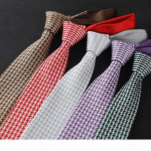 Linbaiway 6cm Knit Tie for Men's Suits Plain Necktie for Wedding Party Tuxedo Embroider Skinny gravatas cravats Custom LOGO