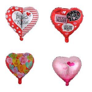 Valentine Ballons 18 pouces de coeur en forme de coeur je t'aime coeur feuille ballons de mariage de la Saint-Valentin de la Saint-Valentin fête hélium fête de ballon décoration