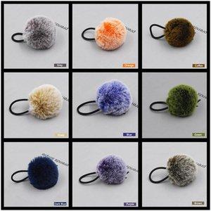 Aikelina Inverno Moda Artificial Pele Bola Elástica Cabelo Elástico Gravatas Cabos De Cabelo Meninas Headband Headband Acessórios De Cabelo