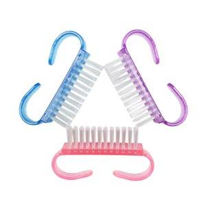 Herramientas de cepillo de polvo de arte rosado de uñas Polvo limpio manicura herramienta de pedicura accesorios de uñas DHL envío gratis GWD3944