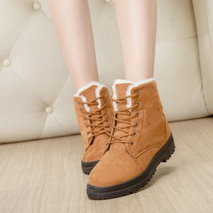 Winter New Style Warm Womens Snow Swede Leather Shoes Low Heel WOMENS Casual Shoes Elastic Band Sporto Boots Boys Boots From , $32.39| Y24Q#