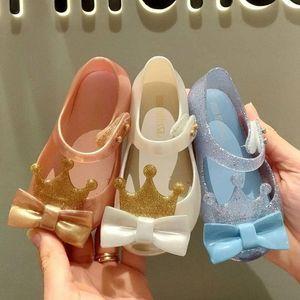Mini Melissa Ultragirl Prenses Kız Jelly Ayakkabı Plaj Sandalet 2020 Bebek Ayakkabı Yumuşak Melissa Sandalet Çocuk Kaymaz Prenses TAJz #