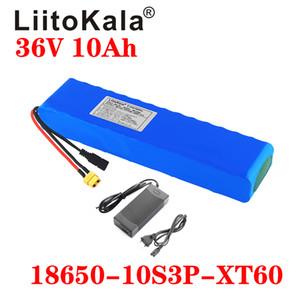 LiitoKala 36V 10Ah 600watt 10S3P batteria al litio 20A BMS Per xiaomi mijia M365 pro ebike scoot bicicletta spina XT60 T