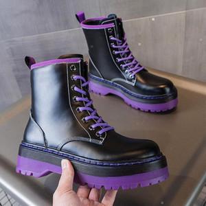 2021 Fashion Women Boots Platform Suede Leather Plain Black Black Sole Sole Boots Pesado Mejor Best Classic Shoes Sneakers Boot 35-402593 #