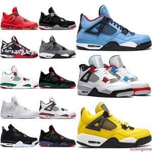 Cheap 4 Cool Grey 4s OG Bred For 2019 Men Basketball Shoes White Cement Fire Red Tattoo Trainer Athletic Sport Sneakers Wholesale