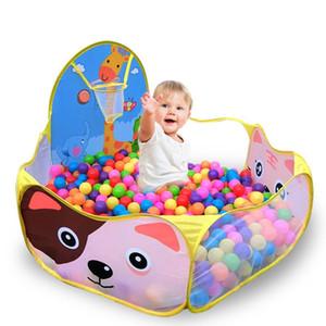 Cartoon giraffe Foldable Ocean Ball Pool with Basket Children Toy Ocean Ball Pit Baby Playpen Tent Outdoor Toys for Children