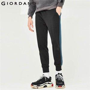 Pantalon pour hommes Giordano Hommes de la ceinture élastique EXTRAYME POINT POCKGERS SLANT POCKSETS NOBLES SOILD CALCA MASCULINA 01119127