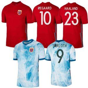 2020/21 Norvegia Soccer Jersey 2021 # 23 Haaland Sørloth Shirt Mens # 8 Berge Sørloth King Football Uniform