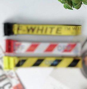 Mode Schwarze und weiße Gelbe Gürtel für Herrengürte Designer Gürtel Canvas Gürtel Leder Business Gürtel Frauen Freies Verschiffen