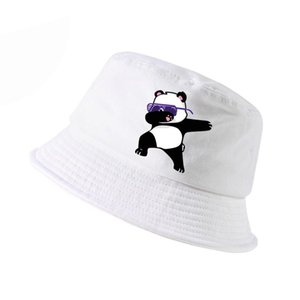 New Cartoon panda Funny bucket hat Fashion men women cotton k panama fisherman hats lovely outdoor hunting fishing cap bone