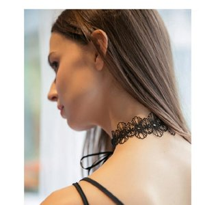 Embroidery floral neck decorating Choker necklace sleeepwear underwear Garters accesories1