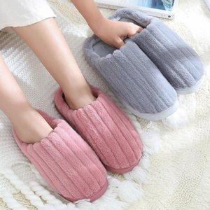 Slippers Women Winter Indoor House Plush Soft Cotton Shoes Non-slip Floor Home Slides For Bedroom