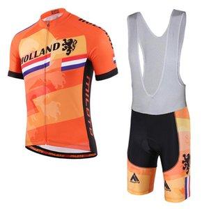 Summer Cycling Jerseys 2020 Holland Netherlands Team Short Sleeve Bike Clothing Maillot Ropa Ciclismo Uniformes Biking Clothes