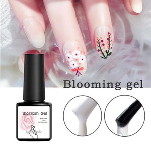 8ML Blossom UV Gel Polish Nail Art Blooming Flower Pattern UV Led Nail Gel Polish white Transparent Varnish top coat