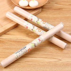 Madeira Rolo Natural de madeira de rolamento Pinos Dumpling Wrapper Durable não Stick Dough Roller Kitchen Tools EWE2012