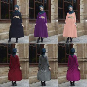 Muslim Traditional Clothing Abaya Dresses For Baby Girls Kids Islamic Dubai Elegant Lace Flower Applique Belt Hijab Dress Kaftan1